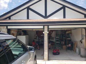 1.two garage doors-Before