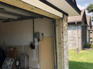 5.new frame installed on garage door