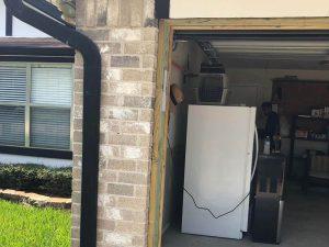 6.new frame installed on garage door