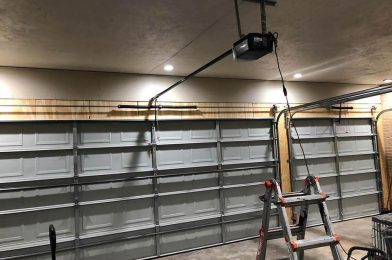 7.garage door installation inside view
