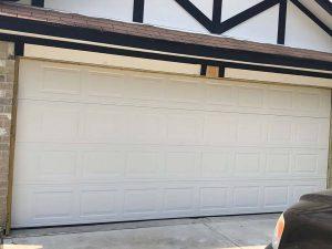8.new garage door installed - outside view