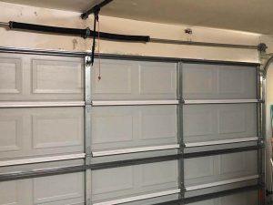 9.new garage door installed - inside view