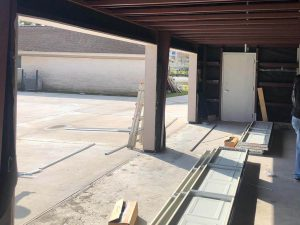 aluminum garage door installation (2)