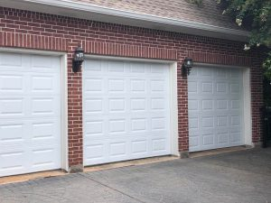 aluminum three garage door installation