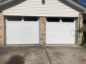 aluminum two garage door installation
