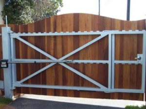 automatic swing gate installation