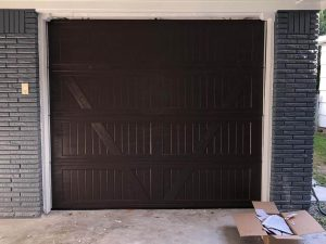 brown wooden garage door installation (3)