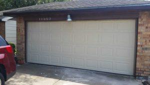garage door center column removal - after