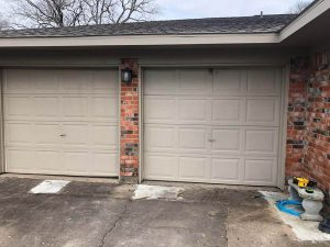 garage-doors-to-1-conversion-Before houston