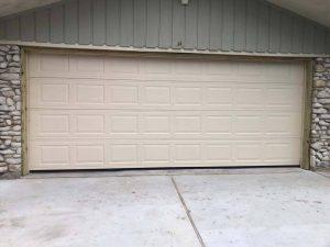 two car aluminum garage door
