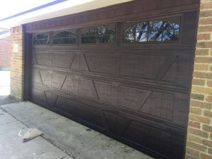 two car wooden garage door