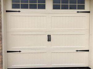 white carrige style garage door with windows (3)