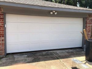 white carrige style two cars garage door (2)