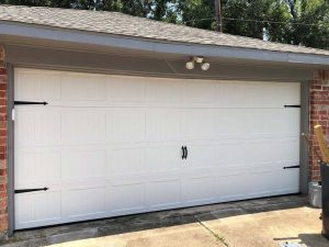 white carrige style two cars garage door