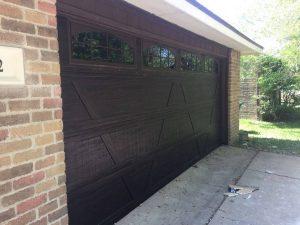 wooden two car garage door with windows (2)